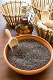 Bruine mosterdzaden Royalty-vrije Stock Afbeelding