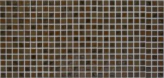 Bruine mozaïektegels Royalty-vrije Stock Afbeeldingen