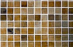 Bruine mozaïektegel Royalty-vrije Stock Foto