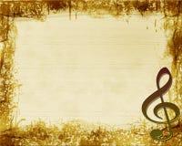 Bruine Muzikale Achtergrond Grunge Stock Fotografie