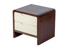 Bruine nightstand Stock Afbeelding