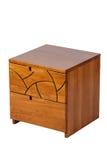 Bruine nightstand Royalty-vrije Stock Afbeelding