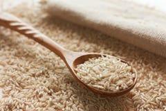 Bruine ongesneden rijst Royalty-vrije Stock Foto's
