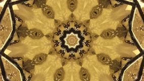 Bruine onscherpe fractal poligon stock footage