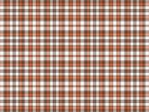 Bruine, oranje, en witte plaid Royalty-vrije Stock Foto's