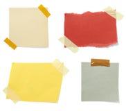 Bruine oude document notaachtergrond Stock Afbeeldingen