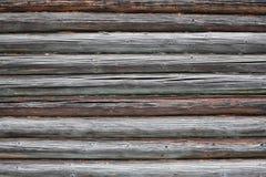 Bruine oude houten textuurstapel Stock Afbeelding