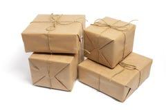 Bruine Pakketten Stock Fotografie