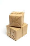 Bruine Pakketten Stock Afbeeldingen