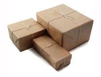 Bruine pakketten Stock Foto's