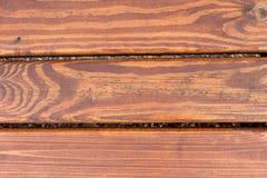 Bruine parallelle plankenachtergrond Royalty-vrije Stock Foto