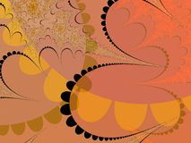 Bruine pastelkleurvormen royalty-vrije illustratie