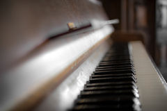 Bruine piano Royalty-vrije Stock Fotografie