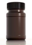 Bruine plastic medische fles Royalty-vrije Stock Foto