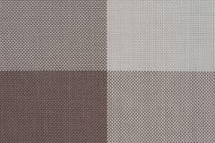 bruine plastiek geweven stoffensteekproeven, textuurachtergrond Stock Foto's