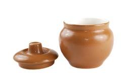 Bruine pot Royalty-vrije Stock Foto's