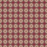 Bruine roze volksharten en bloem naadloos patroon stock illustratie