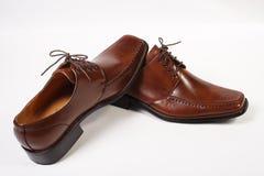 Bruine schoenen royalty-vrije stock afbeeldingen