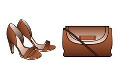 Bruine Schoenen Stock Foto