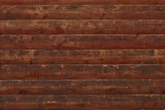 Bruine sjofele houten planken Oppervlakte van een houten vervallen omheining Het Dilapidated eiken planking Textuur van oude brui royalty-vrije stock foto