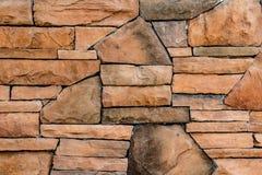 Bruine steenmuur royalty-vrije stock foto's