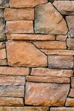 Bruine steenmuur royalty-vrije stock fotografie