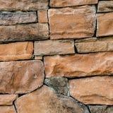 Bruine steenmuur royalty-vrije stock afbeelding