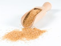 Bruine suiker Royalty-vrije Stock Afbeeldingen