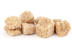 Bruine suiker in enkels stock foto