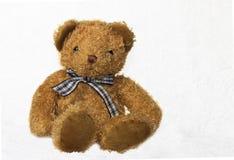 Bruine teddybeer op wit Royalty-vrije Stock Foto's