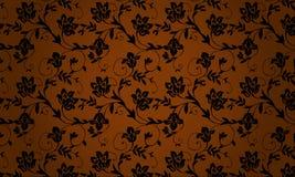Bruine textuur met ornament Royalty-vrije Stock Foto's