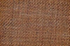 Bruine textuur van het kleine weven van met stock foto