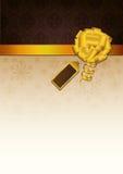 Bruine uitnodiging Royalty-vrije Stock Fotografie
