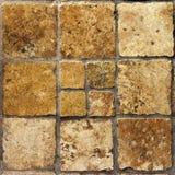 Bruine uitstekende ceramiektegels royalty-vrije stock afbeeldingen