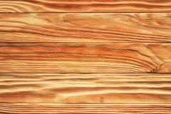 Bruine van de de plankmuur van het pijnboomhout de textuurachtergrond Royalty-vrije Stock Foto's
