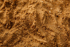 Bruine van de Overzeese de Textuurachtergrond Zandgrond Stock Foto