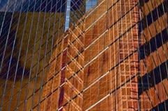 Bruine vensters Stock Fotografie