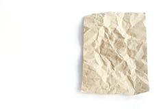 Bruine verfrommelde document textuur Stock Afbeeldingen