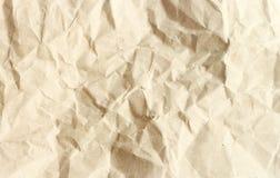Bruine verfrommelde document textuur Stock Afbeelding