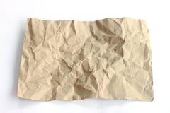 Bruine verfrommelde document textuur Stock Fotografie