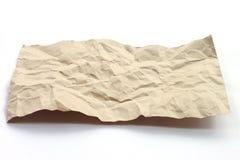 Bruine verfrommelde document textuur Stock Foto's
