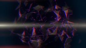 Bruine Vlecht Abstracte Lijnen & Driehoeken Intro Logo Background royalty-vrije illustratie