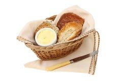 Bruine volkorenbroodbroodjes Royalty-vrije Stock Fotografie