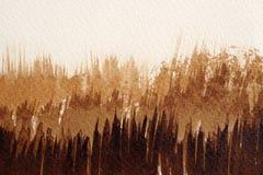 Bruine waterverftexturen royalty-vrije stock afbeelding