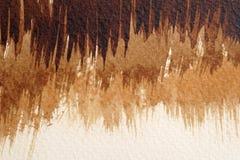 Bruine waterverftexturen stock foto's