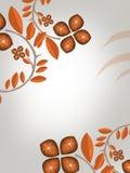 bruine wijn en bladeren op hoeken, abstracte achtergrond Stock Fotografie