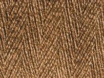 Bruine wolachtige stoffentextuur - dikke wollen doek Royalty-vrije Stock Afbeelding