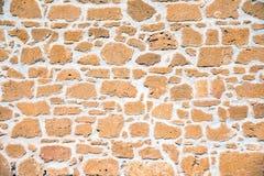 Bruine zandsteenmuur royalty-vrije stock afbeelding