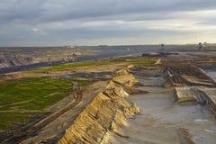 Bruinkool - Bovengrondse mijnbouw Garzweiler (Duitsland) Royalty-vrije Stock Afbeelding
