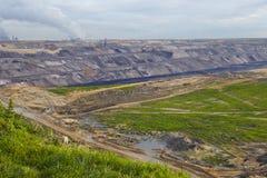 Bruinkool - Bovengrondse mijnbouw Garzweiler (Duitsland) Royalty-vrije Stock Afbeeldingen